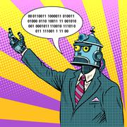 The robot leader politician Stock Illustration