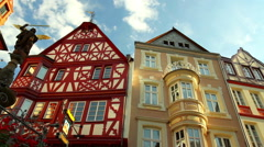 Houses of old German towns (Bernkastel-Kues). Stock Footage