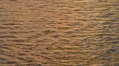 Waves water surface with golden reflections Stock Footage