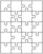 small white puzzle - stock illustration