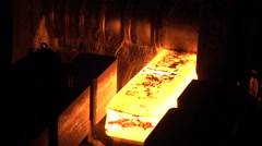 Stages of production of pig iron and steel production at the metallurgical Stock Footage