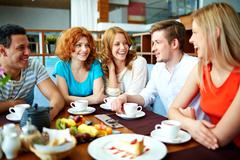 Gathering of friends - stock photo