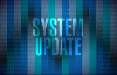 System update binary sign concept - stock illustration