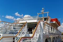 Close-up of cruise ship - stock photo
