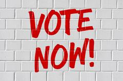 Stock Photo of Graffiti on a brick wall - Vote now