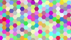 Hexagon Background Loop Ultra HD 3d Stock Footage