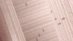 Financial, business or scientific figures in sepia, LOOP, 4k - Ultra HD. - stock footage