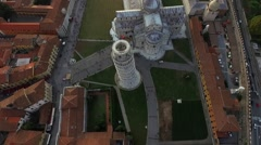 Flying Around the Tower of Pisa Stock Footage