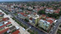 Aerial Viedo of Resort Italian Town Stock Footage