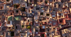 Drone footage of cityscape, Marrakesh, Morocco Stock Footage