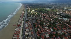 Aerial Video of the Seafront of the Italian Town - stock footage