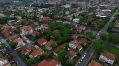 Aerial Viedo of Resort Italian Town Stock Footage
