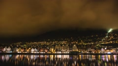 Bergen Harbour Time Lapse Norway 4K Stock Footage