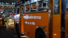 BANGKOK, THAILAND - Usual street life in Bangkok. Road traffic in night. Cars Stock Footage