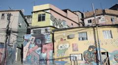 Graffiti on house wall Stock Footage