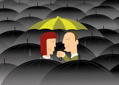 Where is no bad weather if you are in love - stock illustration