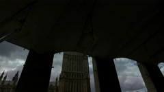 Big Ben seen from Portcullis House in London Stock Footage