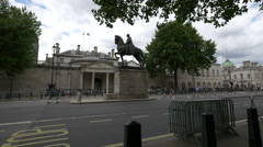 Earl Haig Memorial on Whitehall in London Stock Footage