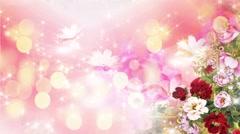 Wedding Video Background Loop 02 Flowers - stock footage