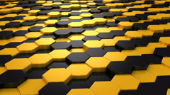 Background Formed From Moving Honeycombs Stock Footage