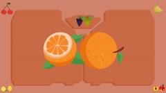 Orange  - Vector Graphics - Food Animation - board Stock Footage