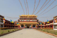 Canadian Buddhist temple in Lumbini, Nepal - stock photo