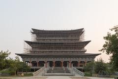 Korean Buddhist temple in Lumbini, Nepal - stock photo