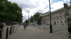 The Women of World War II monument on Whitehall in London Stock Footage