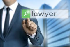 Lawyer browser is operated by businessman background Stock Photos