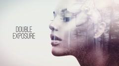 Double Exposure Parallax Titles Stock After Effects