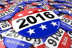 Composite image of vote button - stock illustration