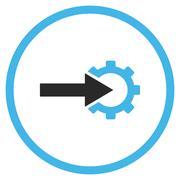 Cog Integration Flat Vector Icon - stock illustration