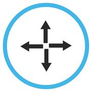 Expand Arrows Flat Vector Icon - stock illustration