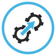 Gear Integration Flat Vector Icon Stock Illustration