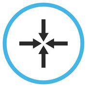 Impact Arrows Flat Vector Icon - stock illustration