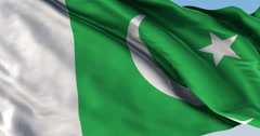 Ultra realistic looping flag: Pakistan Stock Footage
