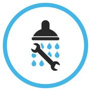 Shower Plumbing Flat Vector Icon Stock Illustration