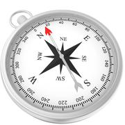 Compass with windrose isolated on white background - stock illustration