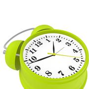 Green alarm clock Piirros