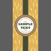 Stock Illustration of Backgrounds for label package banner Seamless pattern with wheat ears