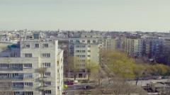 City rising Aerial 4K shot Arkistovideo