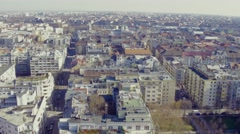 City apartments from the sky Stock Footage