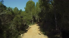 Offroad  with a Jeep Wrangler in an andalusian forest, Spain Stock Footage
