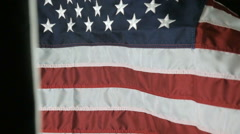 American Flag Waving in Slow Motion - stock footage