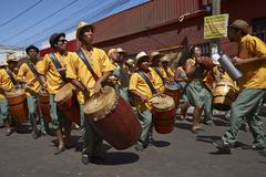 ARICA, CHILE - JANUARY 23, 2016: Band at the Carnaval Andino.Carnival Band Stock Photos