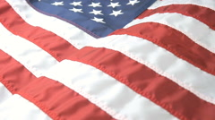 Close Up Shot of a Waving American Flag Stock Footage
