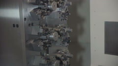 Engineer Set Up CNC Machine - stock footage