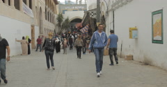 Busy Old Street in Tunis, Tunisia Stock Footage