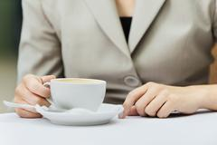 woman hand cup - stock photo