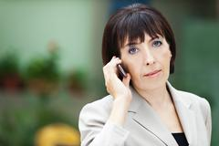 business woman phone - stock photo